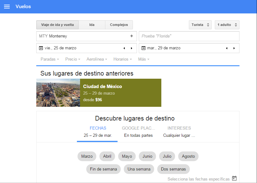 Google Flights México
